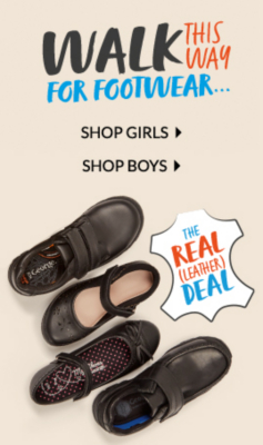 Get them ready for back to school with our range of quality leather school shoes at George.com