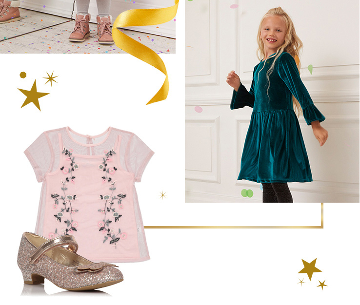 From party dresses to outfits, shop girls' partywear