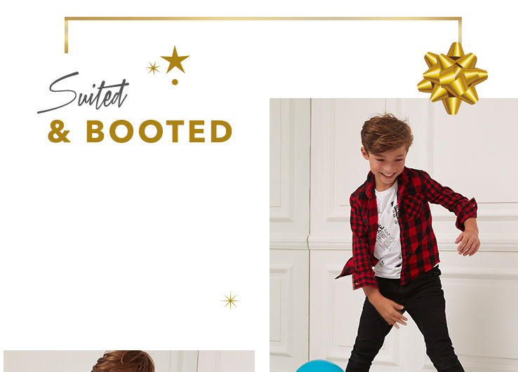 Ensure he's suited and booted for party season with our boys' partywear range