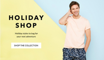 Browse men's holiday shop