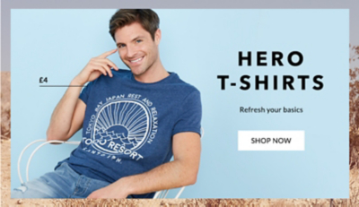 Shop men's t-shirts and polos