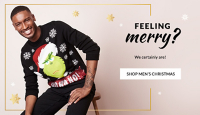 Find all you'll want for Christmas. Shop men's festivewear