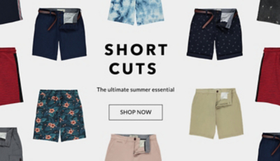 Browse our range of men's shorts