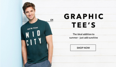 Browse men's graphic t-shirts and polos