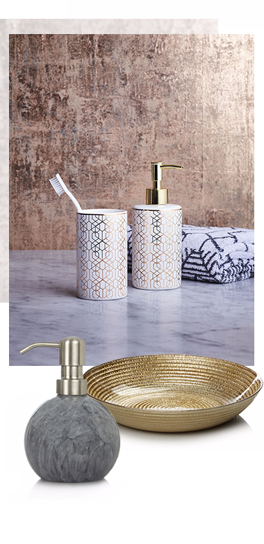 Bring a touch of glamour to the bathroom with luxe accessories at George.com