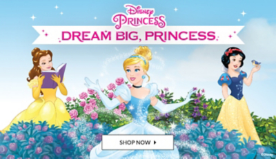 Check out out our range of Disney toys from dancy dress to character toys, fit for a princess.
