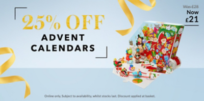 From Playmobil to LEGO, get 25% off our fun selection of advent calendars at George.com