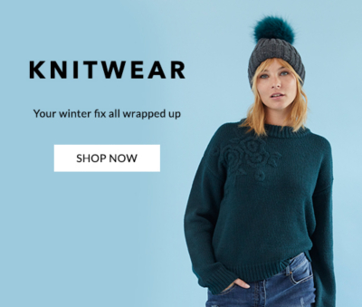 Shop our cosy selection of knitwear for spring