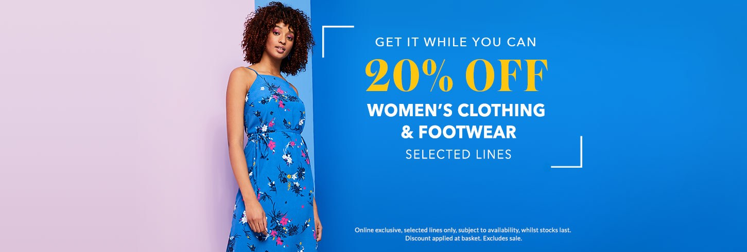 6c6f1bdc489 Get 20% OFF women s clothing and footwear