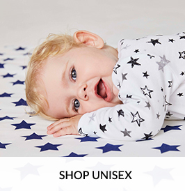 Browse our unisex baby clothing range