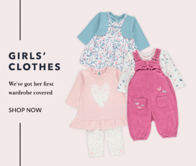 Kit your newborn out with our baby girl clothing range