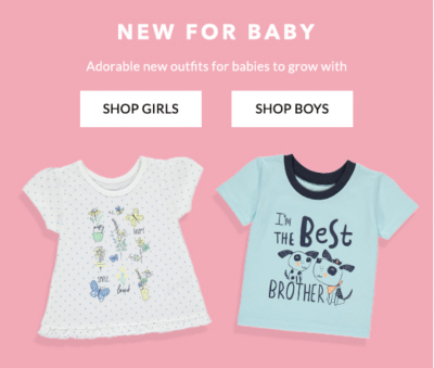 Shop the latest styles in baby's new arrivals