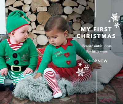 Make your baby's first Christmas a special one with our range of festive outfits, bodysuits and sleepsuits