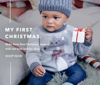 Make their first Christmas a stylish one with our fabulous baby Xmas clothing range at George.com