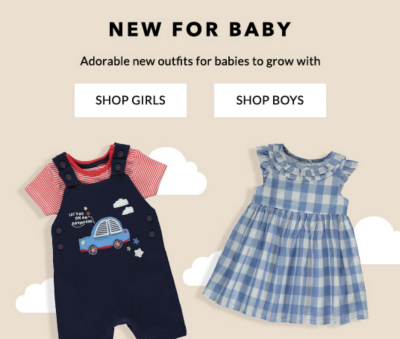 Shop new baby clothing