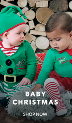 Kit them out with our festive baby clothing range at George.com