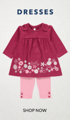 From mini-me to independent style, check out our beautiful range of baby dresses.