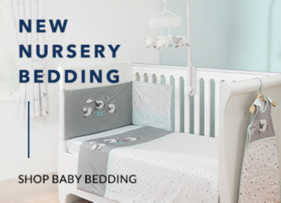 Providing a comfortable night's sleep for little ones, shop our gorgeous range of baby bedding.