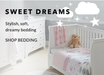 Shop our dreamy baby bedding range