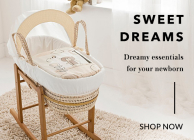 Send your little one to the Land of Dreams with our range of cots and moses baskets