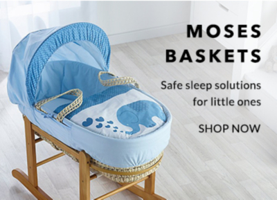 Keep your newborn safe and sound with our selection of moses baskets