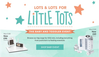 For the best savings, shop the baby event at george.com