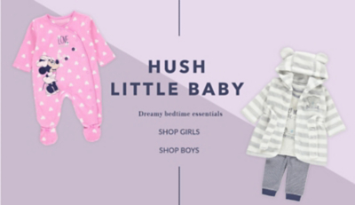 Shop our dreamy range of baby sleepsuits now