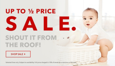 Shop our baby clothing and accessories SALE at George.com