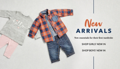 Shop girls' new in at George.com