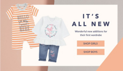 Discover new arrivals for babies