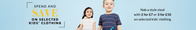 Shop offers on selected kids' clothing