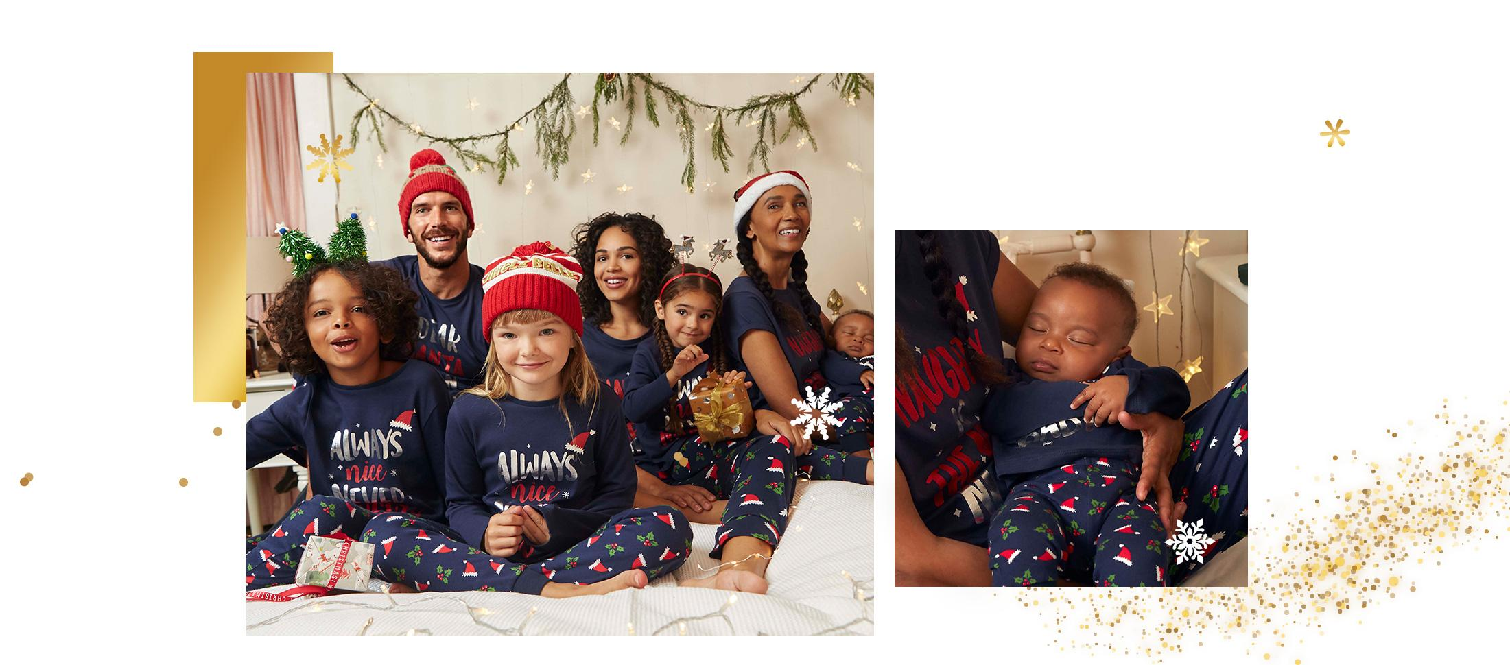 Count down the days to Christmas in comfort and style with matching PJs the whole family will love