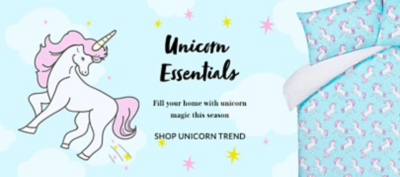 Bring a world of enchantment to your space with our unicorn accessories range at George.com