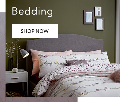 Freshen up your bedroom with our dreamy range of bedding