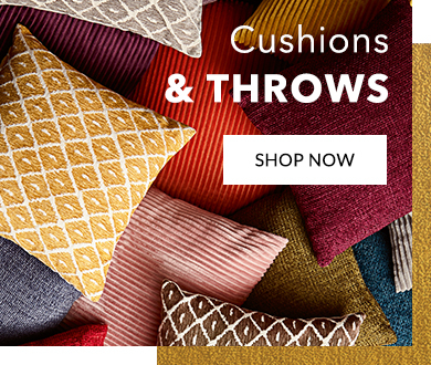 Browse our range of cushions and throws