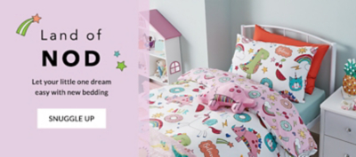 Give their bedroom a fun update with our kids' bedding range