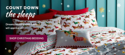 Go to bed dreaming of Santa with Christmas bedding