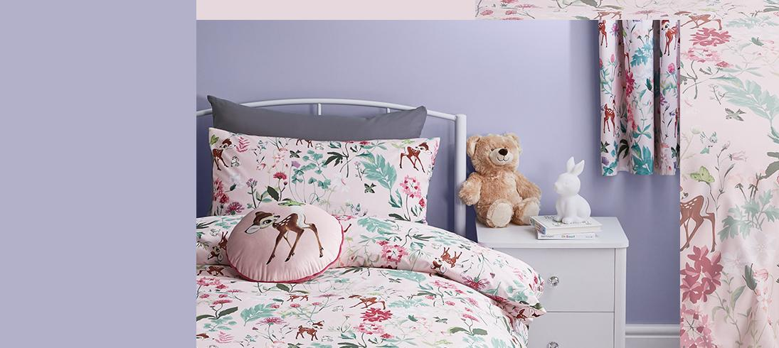 Brighten up your little one's bedroom with our kids' bedding range
