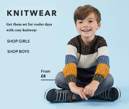 Get them set for cooler days with our range of boys' jumpers at George.com