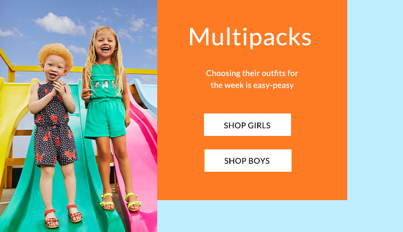 6f721753c1029 Give their wardrobe an update with our girls' multipacks