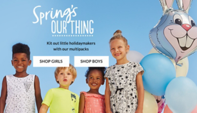 Browse kids' holiday shop