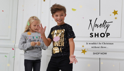 Brighten up their Christmas with our kids novelty clothing range