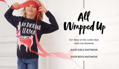 Kit them out with snug and stylish knitwear for girls' at George.com