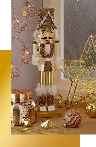 Sprinkle Christmas magic all around your home with everything from festive bedding to sparkly tableware