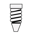 SES/E14 small Edison screw icon