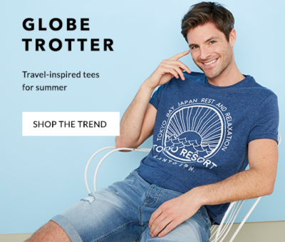 Shop our travel-inspired tops and shorts