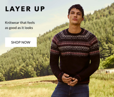Cosy up with the latest knits and jumpers
