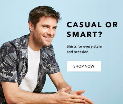 Shop men's casual and smart shirts