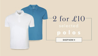 Refresh your look with 2 for £10 polo shirts at George.com