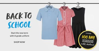 School Uniform Shop Shoes Polo Shirts And Skirts George At Asda